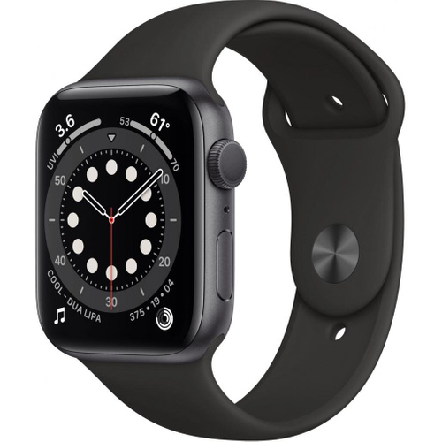 Смарт-годинник Apple Watch Series 6 GPS, 44mm Space Gray Aluminium Case with Blac (M00H3UL/A), Чорний