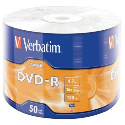 Диск DVD Verbatim 4.7Gb 16X Wrap-box  Extra MATT SILVER (43791)